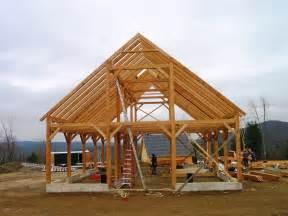 Monitor Style Barn timber frame horse barn