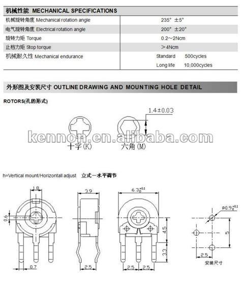 47k variable resistor datasheet pt6 pt10 pt15 variable 47k b503 resistor trimpot trimmer potentiometer piher acp trimpot