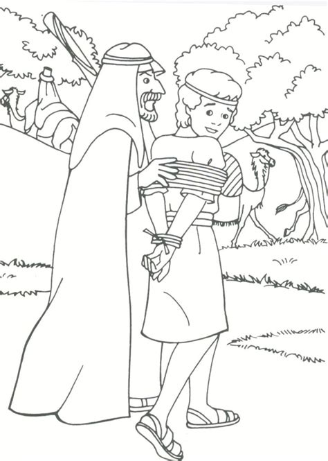 with his brothers jos 195 colouring pages