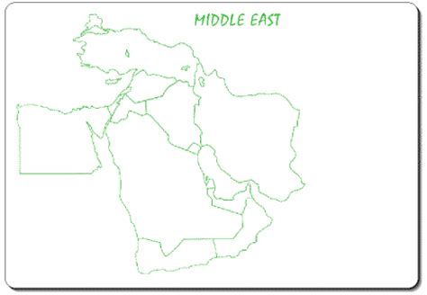 middle east map outline middle east outline map