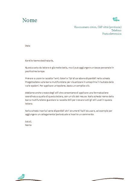 modelli lettere carta intestata personale office templates