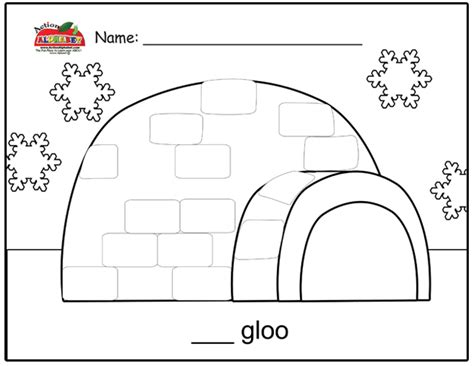 igloo coloring page preschool best photos of igloo pattern worksheet kindergarten