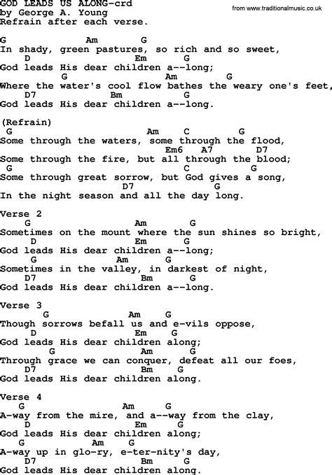 tutorial guitar dear god top 500 hymn god leads us along lyrics chords and pdf