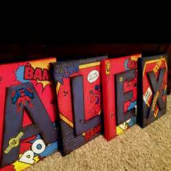 wall letters kids room decor