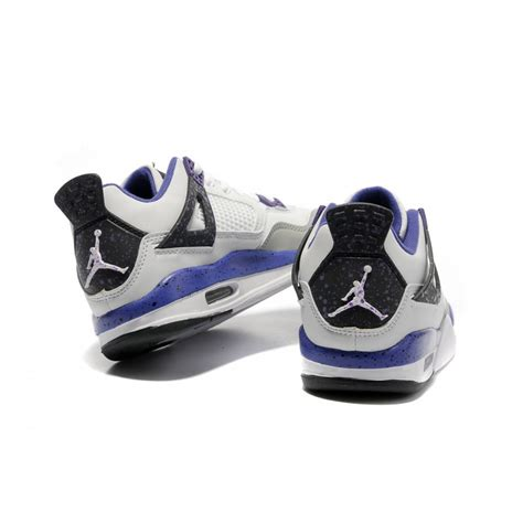 purple jordans shoes air 4 air sole low white purple air shoes