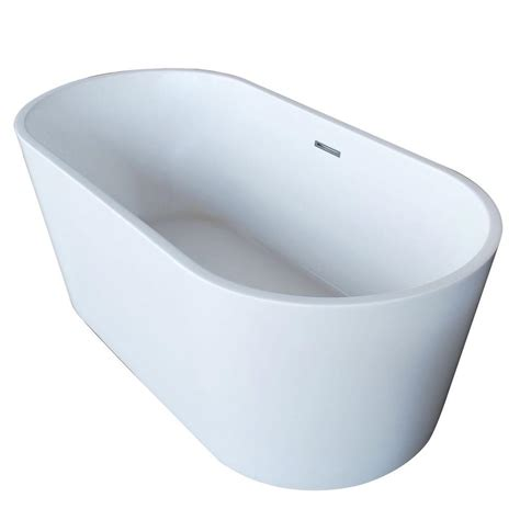 oval bathtub universal tubs purecut 5 6 ft acrylic center drain oval