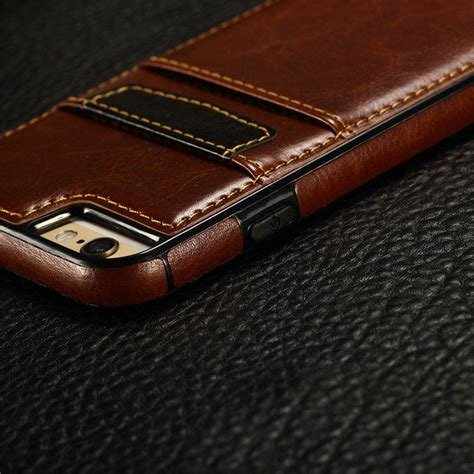 Casing Iphone 55s Luxury Leather luxury slim leather wallet card back cover for iphone 5 se 6 6 plus 6s plus