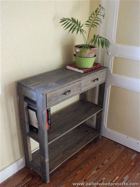 Front Entry Table Pallet Console Table Plans Pallet Wood Projects