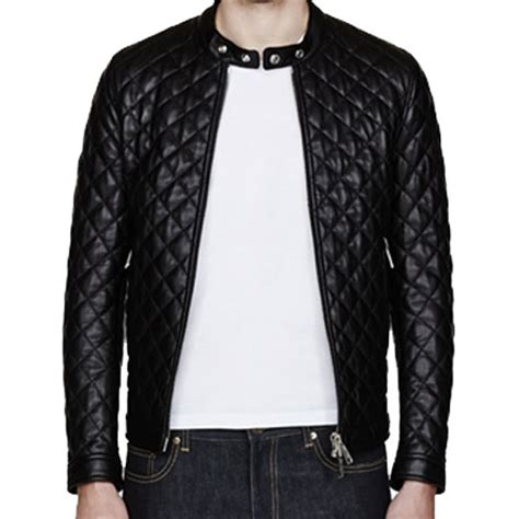 Mens Leather Quilted Jacket by A Quilted S Bomber Leather Jacket Leather Jackets Usa