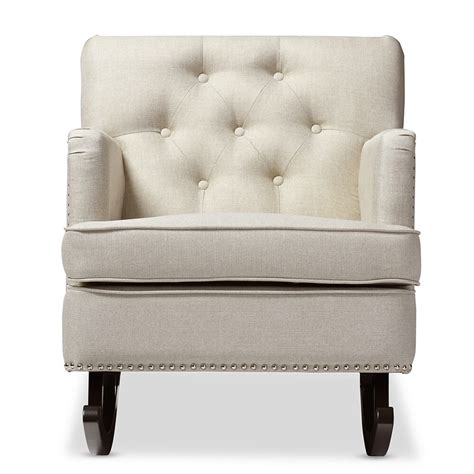 Plush Chairs by Deluxe Plush Rocking Chair Modern Furniture Brickell