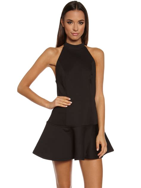 Dress Scuba M L mlm scuba halter dress in black