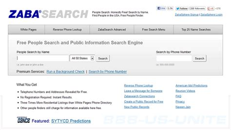Zabasearch Address Free Search