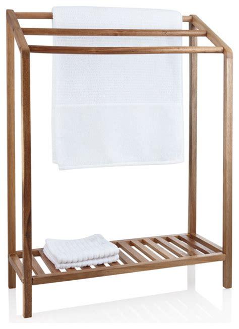 Stand Up Towel Rack by Acacia Wood Towel Rack Towel Racks