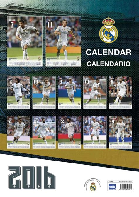 Calendario Real Madrid Calendario 2018 Real Madrid Cf Europosters It
