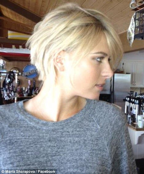 pictures of wearing the haircut maria sharapova reveals new short haircut is just a wig daily mail online