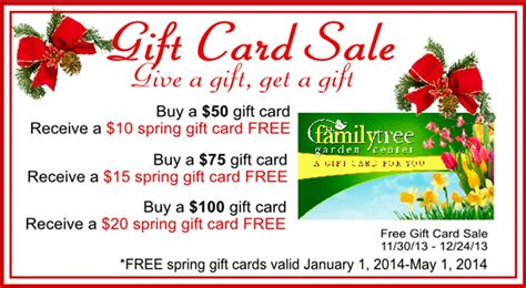 Facebook Gift Cards On Sale - last minute gift ideas from the family tree garden center