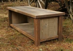 Rustic Entryway Benches Rustic Reclaimed Entry Bench And Shelf Combo By Echopeakdesign