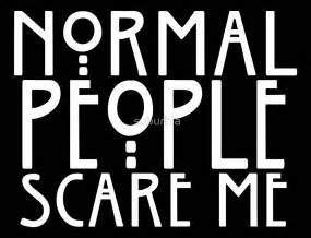 Quote Stickers For Wall quot normal people scare me quot by suburbia redbubble