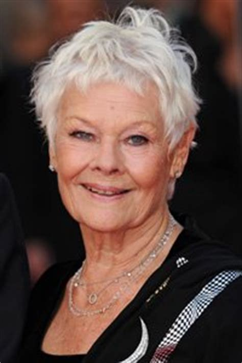 judy dench pixie crop haircut texture always works well on cropped hair and judi dench s