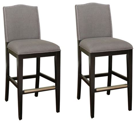 34 Inch Bar Stool American Heritage 34 Inch Bar Stool In Black Set Of 2 Transitional Bar Stools And