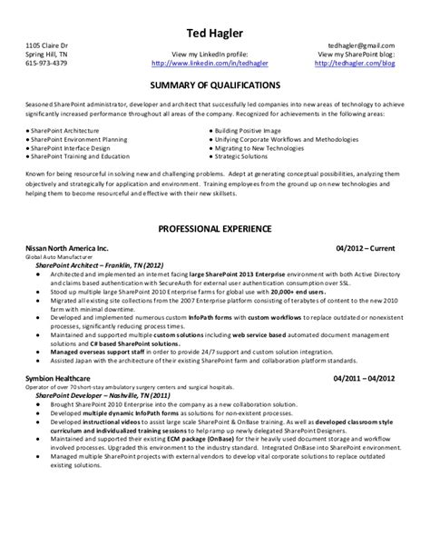 Ted Resume by Ted Hagler Resume