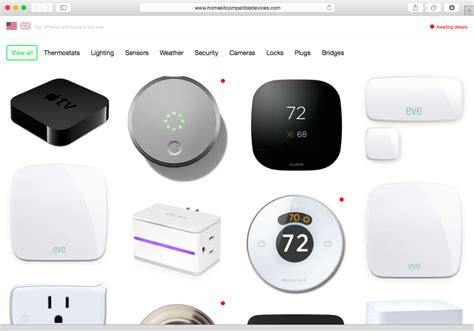 apple homekit list of all homekit compatible devices apple homekit