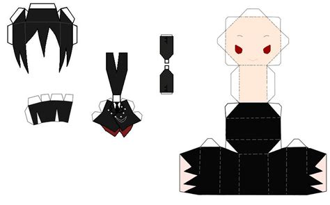 Anime Papercraft Printable - chibi anime paper crafts