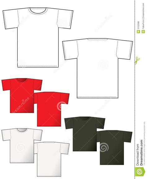front layout video t shirt layout back and front royalty free stock photos