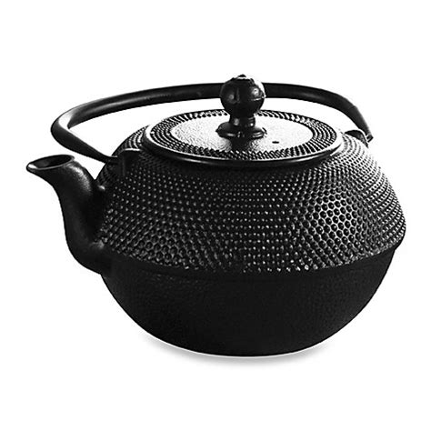 bed bath and beyond teapot buy primula tea 174 cast iron 40 ounce black matted teapot