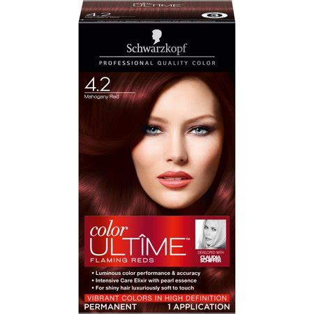 hair color walmart schwarzkopf color ultime hair color 4 2 mahogany