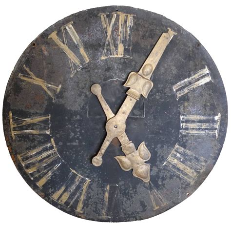 decorative clock french iron decorative wall clock at 1stdibs