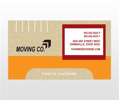 moving company business card template moving companies moving company free template