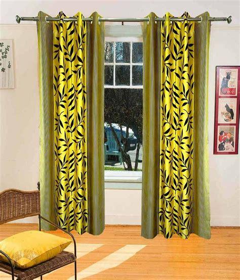 yellow contemporary curtains sanaya yellow contemporary long door curtain set of 2