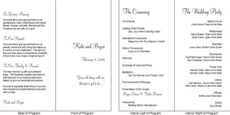 layout for wedding reception program this is a typical wedding program presented in a simple