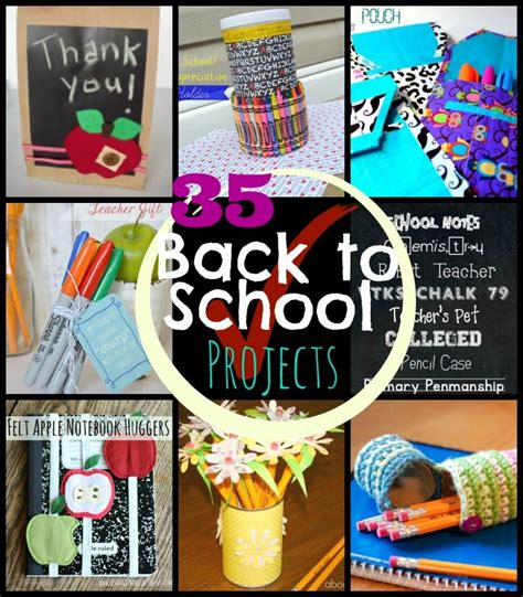 35 Back to  Crafts, Gifts and Project Ideas   Happy Hour Projects