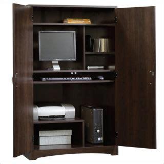 sauder computer armoire cinnamon cherry cherry computer armoire desk hutch workstation hideaway