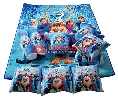 Karpet Karakter Bulu Rasfur Printprinting Frozen Pink Murah karpet selimut set karakter murah