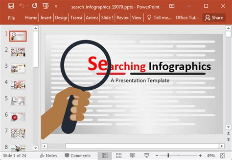 powerpoint presentation template creator animated search