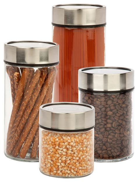 Kitchen Canisters And Jars by 4 Piece Date Dial Jar Set Kitchen Canisters And Jars