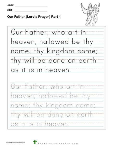 understanding the lord s prayer worksheet printable catholic study calendar template 2016