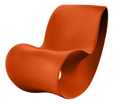Orange Rocking Chair by Voido Rocking Chair Orange By Magis