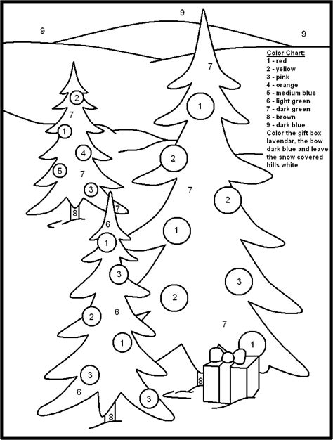 printable christmas coloring pages in spanish christmas color by number pages winter christmas color
