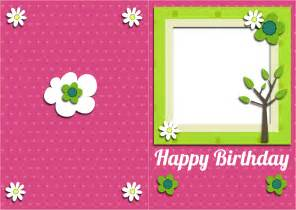 free pictures to print free free printable birthday card and gift tag with space for photo