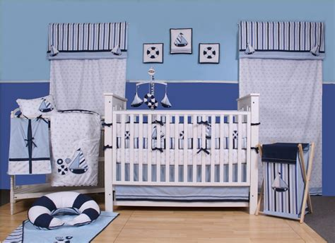 baby boy nautical theme nursery crib bedding and decor