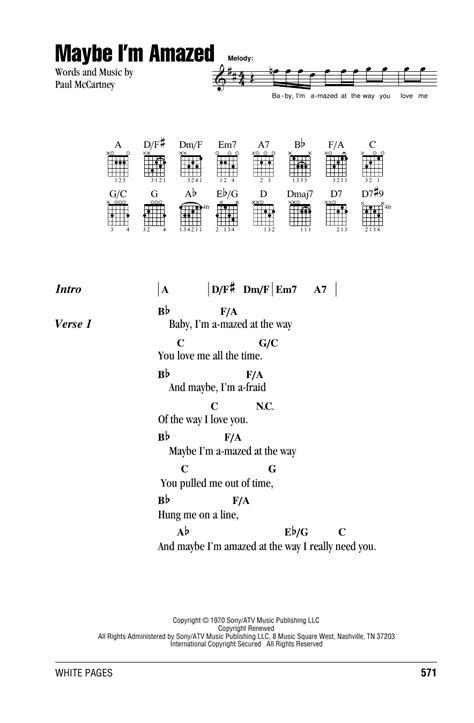 song paul mccartney lyrics maybe i m amazed sheet by paul mccartney lyrics