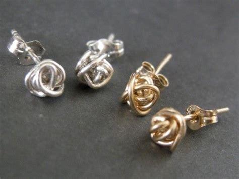 wire stud earrings diy earrings