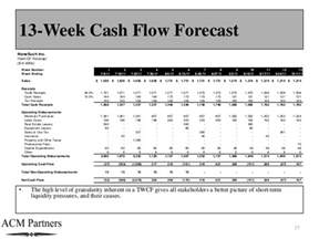 13 Week Flow Forecast Template by Flow Forecasting