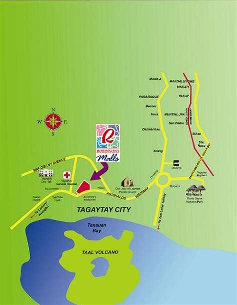 summit mall map map of tagaytay city philippines