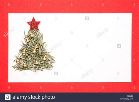 blank christmas card or invitation with christmas tree