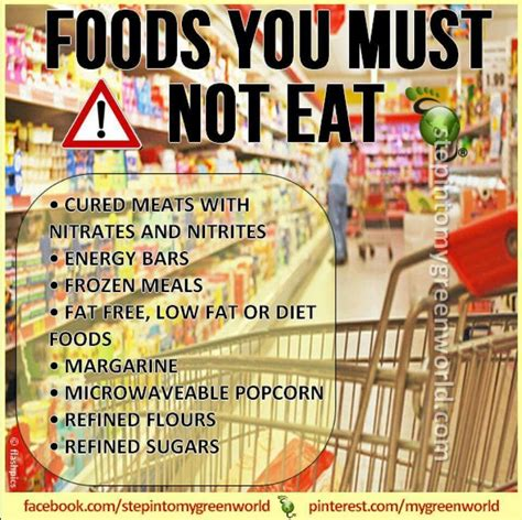 how to not to eat foods not to eat foods to avoid